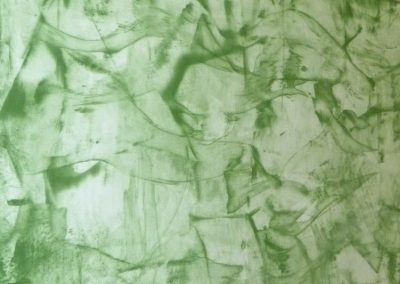 Sumpfkalk-Glaette auf Sumpfkalk-Marmorputz_Struktur Sveta_mit Pigmentlasur gruen