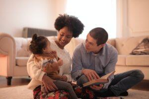Bild Familie mit gesunder Rraumluft