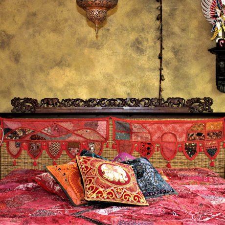 Foto Naturkalkputz mit Goldlasur Schlafzimmer